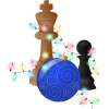 Chess pieces and Christmas ornament